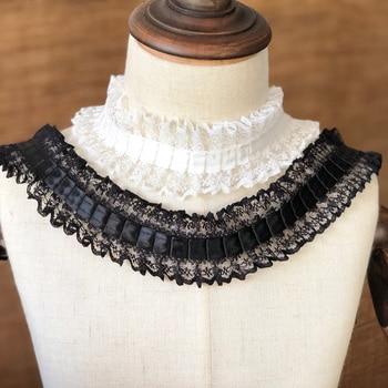 Lo último en cintas para tapicería de encaje, tela de encaje blanco y negro, 1 yarda, 4 cm, accesorios de costura ancha, material de guipure koronki materialowe P008