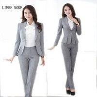 Women Plus Size Pant Suits Black Grey Red Formal Pants Suits Womens Work Wear Trouser Suits for Women Office Ladies Pantsuit
