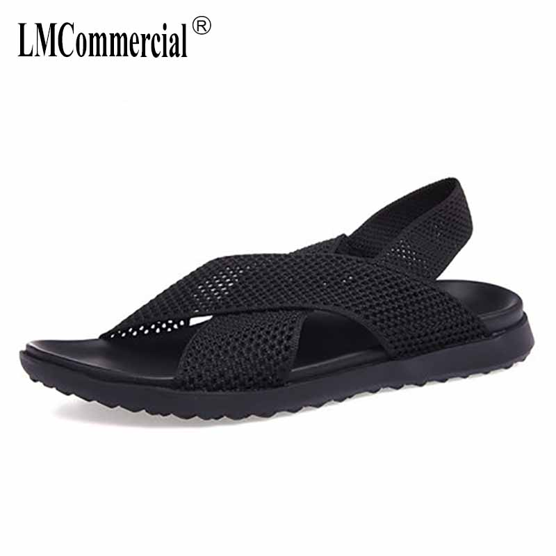 Summer mens shoes British reto Roman sandals Sneakers Men Slippers Flip Flops casual Shoes beach outdoor anti-skid cowhide male