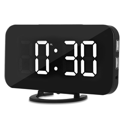 Creative LED Digital Alarm Table Clock Brightness Adjustable For Home Office Hotel Light Sensor USB Modern Digital Clock