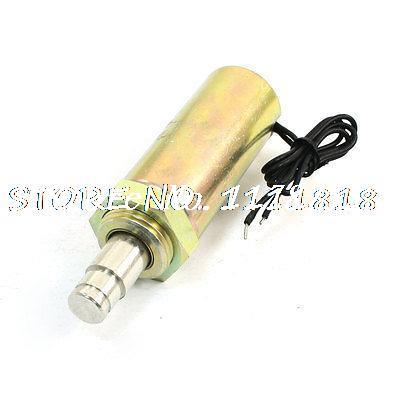 DC 12V Push Pull Type Actuator Solenoid Electromagnet 2mm 2.2lb 4mm 300g 1x pull hold release10mm stroke 0 41kg force electromagnet solenoid actuator 12v