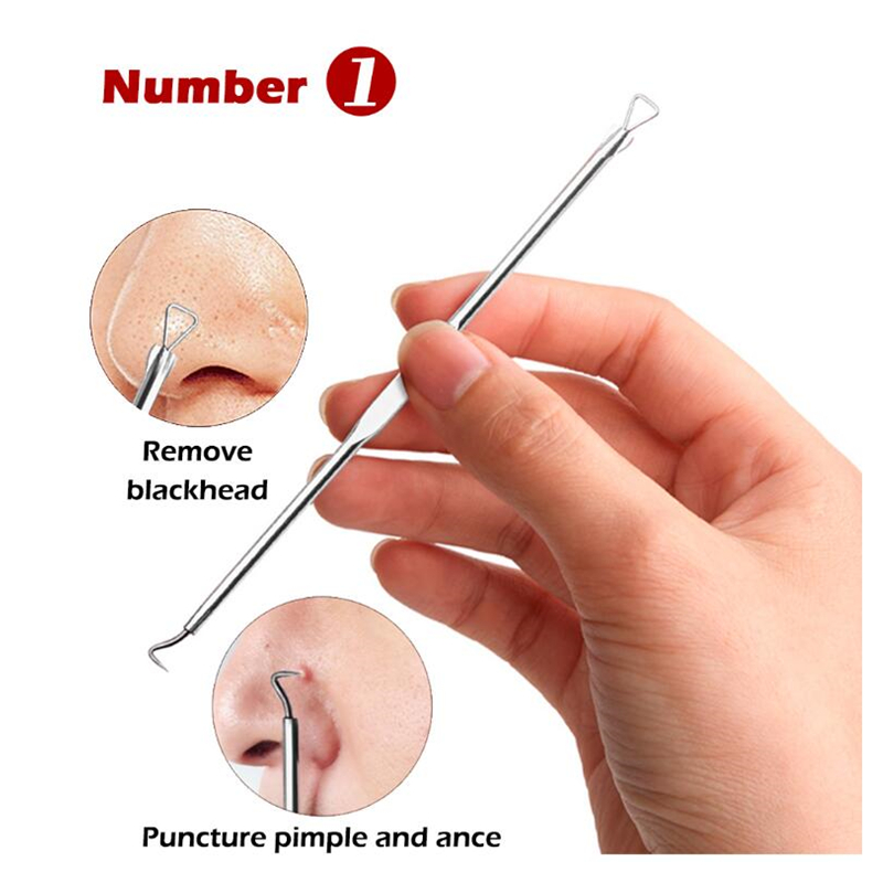 LANBENA 4PCS Acne Removal Needle Pimple Needle Blackhead Remover Acne Treatment Acne Needle Black Mask Acne Extractor Remover in Electric Face Cleanser from Beauty Health