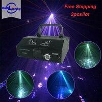 500 MW красный зеленый синий RGB Полноцветный работающий через протокол DMX лазерной лучевой прожектор сканирования DJ сцена диско вечеринки лаз