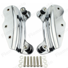 Chrome 4 Point Docking Hardware Kit Detachable For Harley Road King Electra Road Street Glide 2009-2013