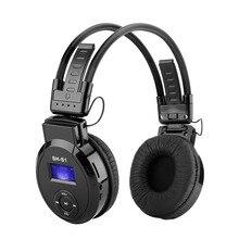 Deportes Auriculares Plegables Reproductor de MP3 con Soporte de Pantalla LCD TF Tarjeta de Juego, Radio FM Inalámbrico de Auriculares de Música Plegable MP3 auricular