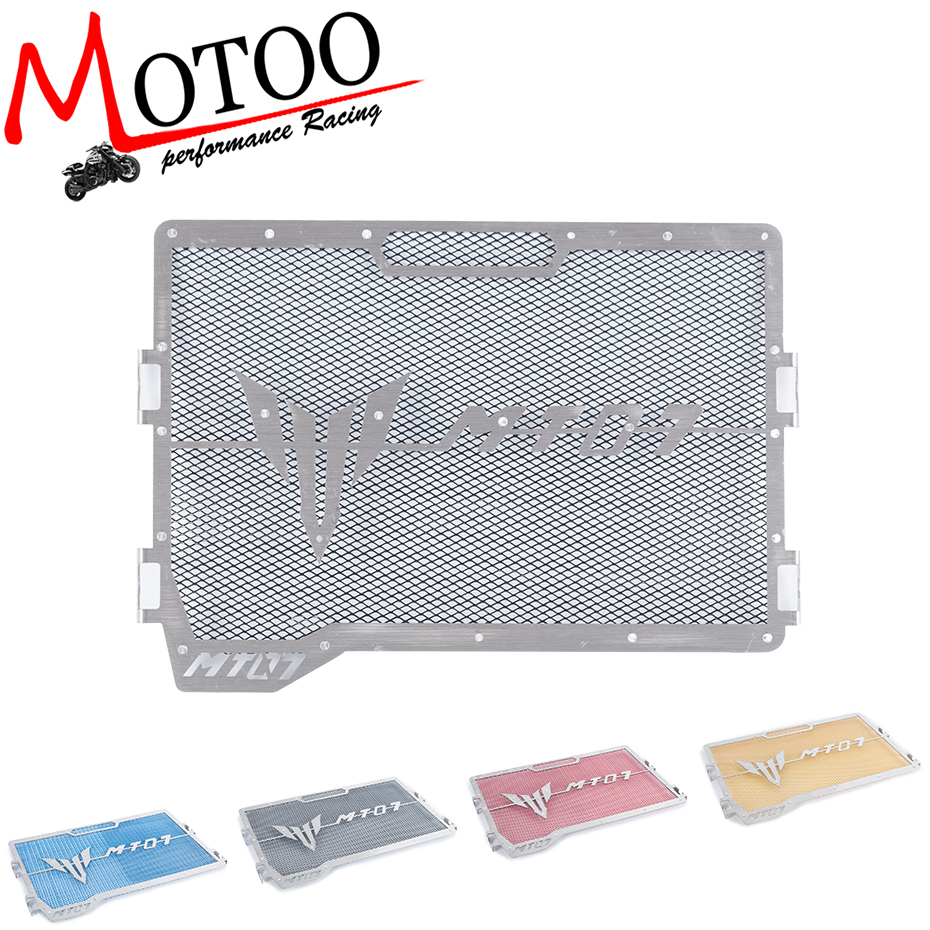 Motoo - For Yamaha MT07 MT 07 MT-07 2017 Motorcycle Accessories Radiator Grille Guard Cover Protector FZ07 2014 2015 2016 2017 new black motorcycle radiator grille guard cover protector for yamaha mt07 mt 07 mt 07 2014 2015 2016 free shipping