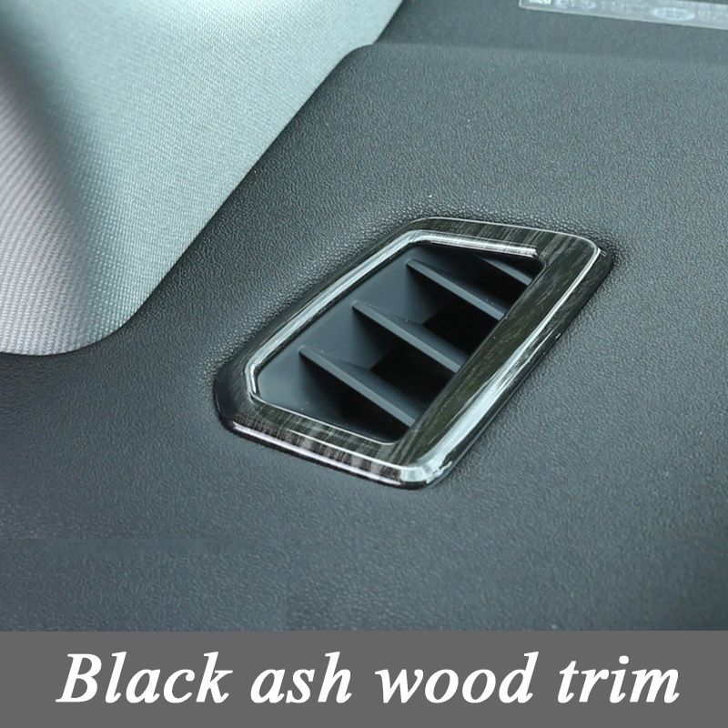 For Land Rover Discovery Sport Car-Styling Luxury Interior Accessory Black Ash Wood Dashboard Frame Cover Trim Set of 2pcs 2pcs abs b pillar car interior air vent outlet cover trim frame decoration for discovery sport 2015 2016 car styling car covers