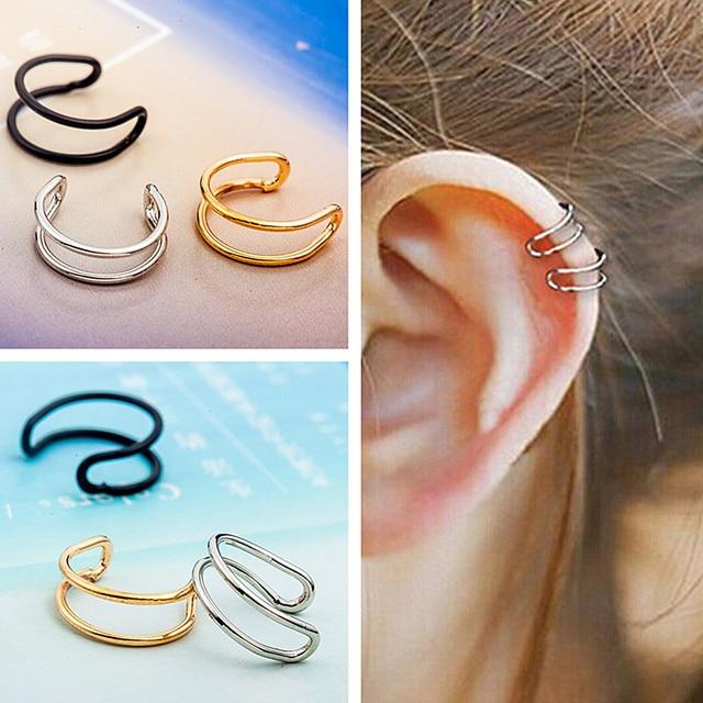 Es203 Hollow U Shaped Clip Earrings Non Pierced Ear Bone Invisible Men