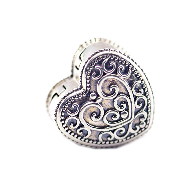 Fits for Pandora Charms Bracelets Enchanted Heart Clip Beads 100% 925 Sterling Silver Jewelry Free Shipping