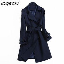 Women Trench Coat 2019 Spring Autumn Fashion Casual Slim Lon