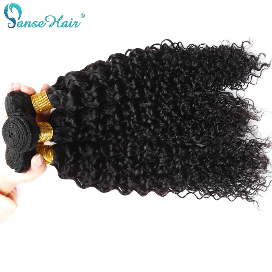 Brazilian Hair Kinky Curly Panse Hair 4 Bundles Per Lot Non Remy Human Hair Weaving Customized 8 To 30 Inches Hair Bundle