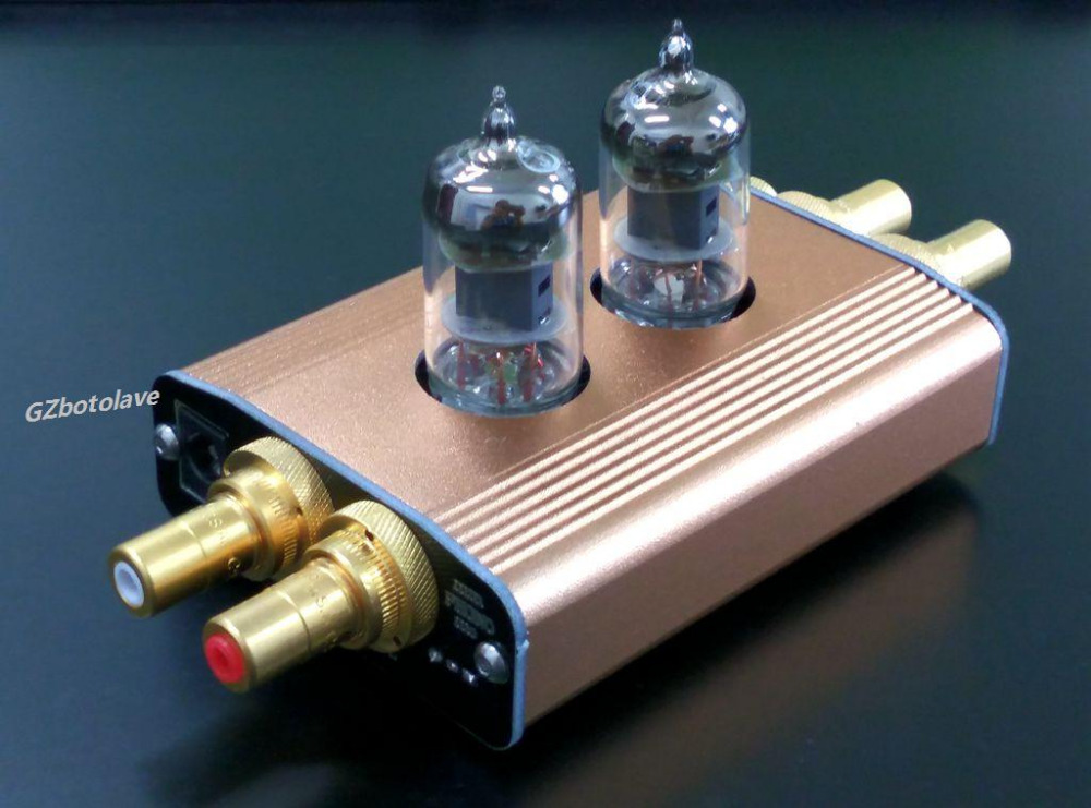 NEW class A High-End Mini Vacuum Tube MM Phono Turntable Preamplifier HiFi Preamp 2017 new spartan m201 mini tube preamplifier hifi 6n2 6z4 tube preamp diy kit finished