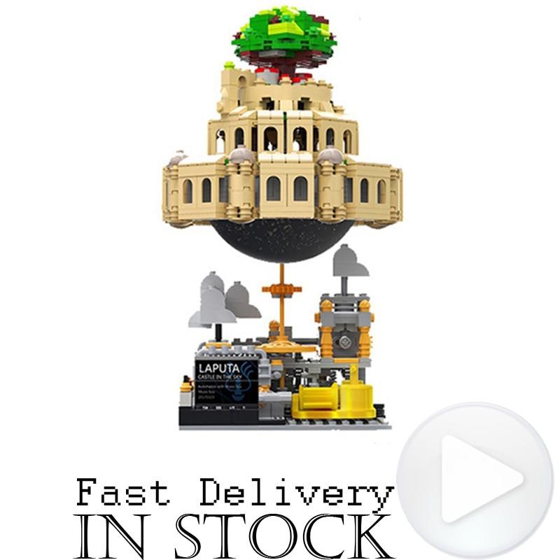 XingBao 05001 1179Pcs Creative MOC Movie Cartoon The City in The Sky with Music box Set Educational Building Blocks Bricks Model creative cartoon 3d electric music