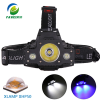 High power Xlamp XHP50 led headlamp usb rechargeable 18650 battery waterproof head lantern for fishing lamp flashlight headlight