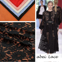 Mesh Water Soluble Hollow Milk Silk Lace Fabric 6 Color Eyelash Wave Lace Embroidered Heavy Guipure