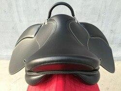 Aoud Zadel Paardrijden Zadel PVC Training Zadel Synthetische Zadel Endurance Zadel Met Handvat Voor Veiligheid Kleur Zwart Bruin