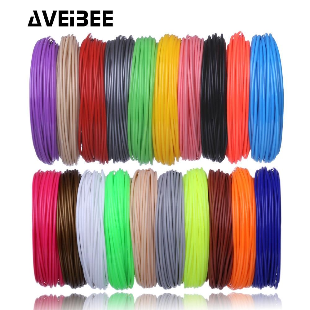 Aveibee 100 metros 10 cores 1.75mm pla filamento materiais para impressão 3d caneta fios de plástico impressora consumíveis diy presentes