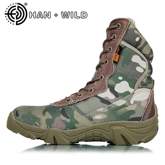 7331dbd6ff7 2017 New US Army Boots Men Desert Shoes Warm Winter Snow Boots Camouflage  Military Tactical Boot Men s Combat Ankle Boots