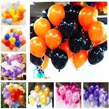 5pcs 10inch 2.2g Black Gold Happy Birthday Round Latex Balloons Air Heart Party Decorations Kid Balloon
