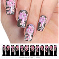 2017 New Nail Art Sticker Water Transfer Stickers Flower Decals Tips Black Nail Decoration for Women