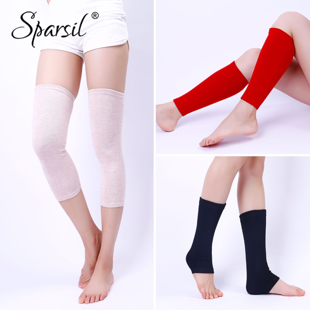 Sparsil Unisex Cashmere Knit Knee Sleeve 2018 Ankle Knee-Joints Leg Warmers Autumn Winter Men Women Dance Fitness Legs Protector
