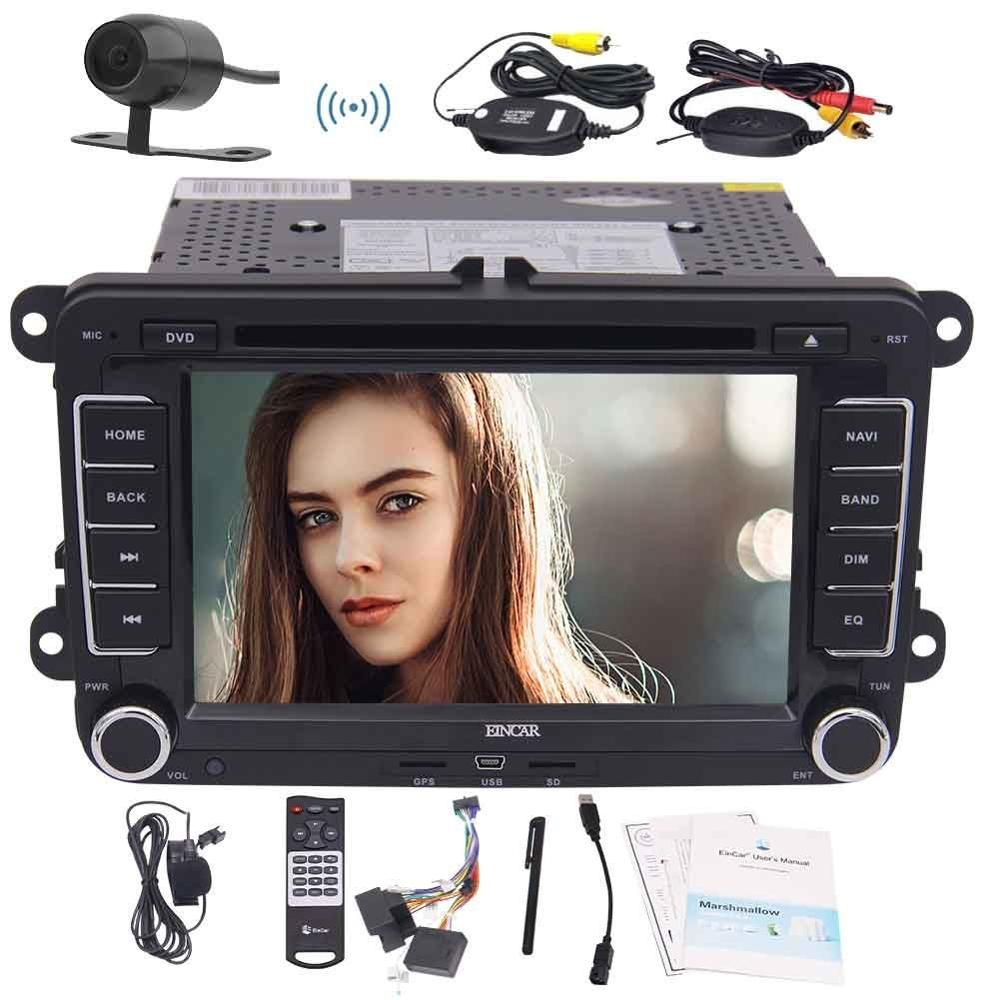 WiFi Android6.0 Car DVD Player GPS 2Din Autoradio Stereo for Volkswagen POLO PASSAT Support OBD2 3G 4G Bluetooth Wireless camera