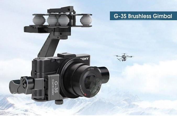 Walkera rc G-3S Sony Gimbal Professional metal Brushless Gimbal For Sony RX100II Camera f11088 walkera camera mount g 3dh brushless gimbal with 360 degrees tilt control