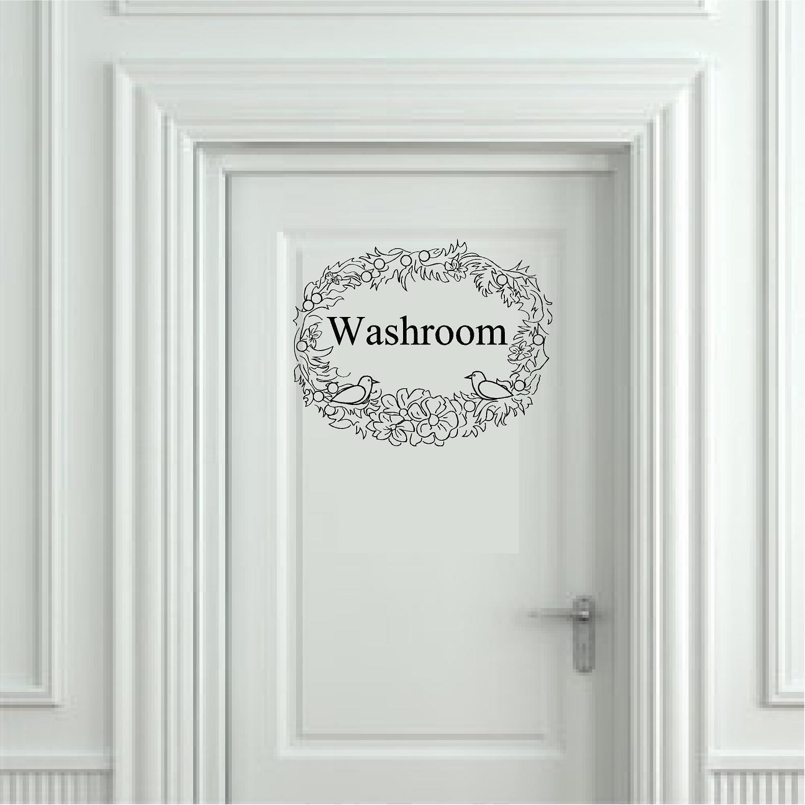 Washroom Bathroom door Decorates A Lovely and Interesting Room Guest Bath Vinyl Sticker