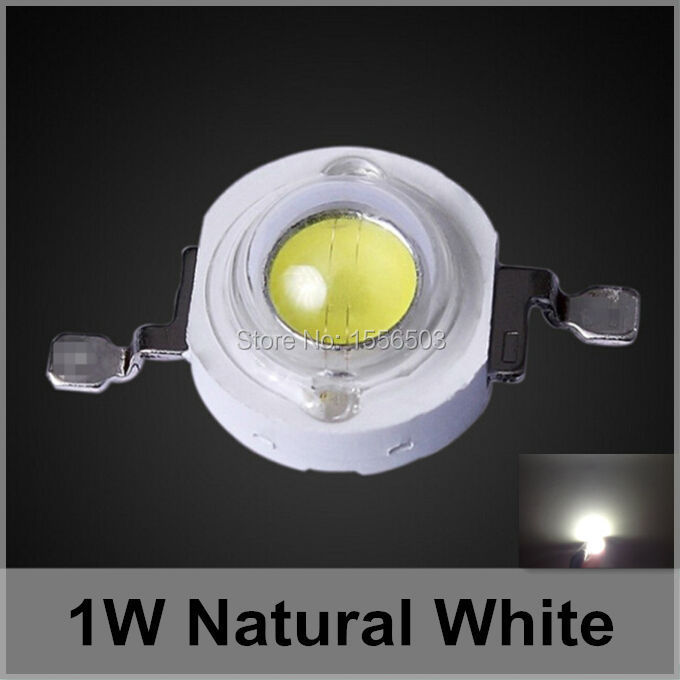 200 Pcs LED Chip Beads 1W Natural White High Power LEDs 110 120lumen Light Source for LED Lamp Sun White 4000K 4500K 350ma 1W