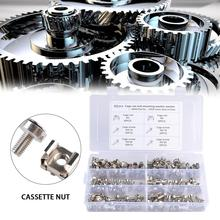 New Style 100PCS Square Hole Hardware Cage Nuts Mounting Screws Washers Nut Set M5/M6