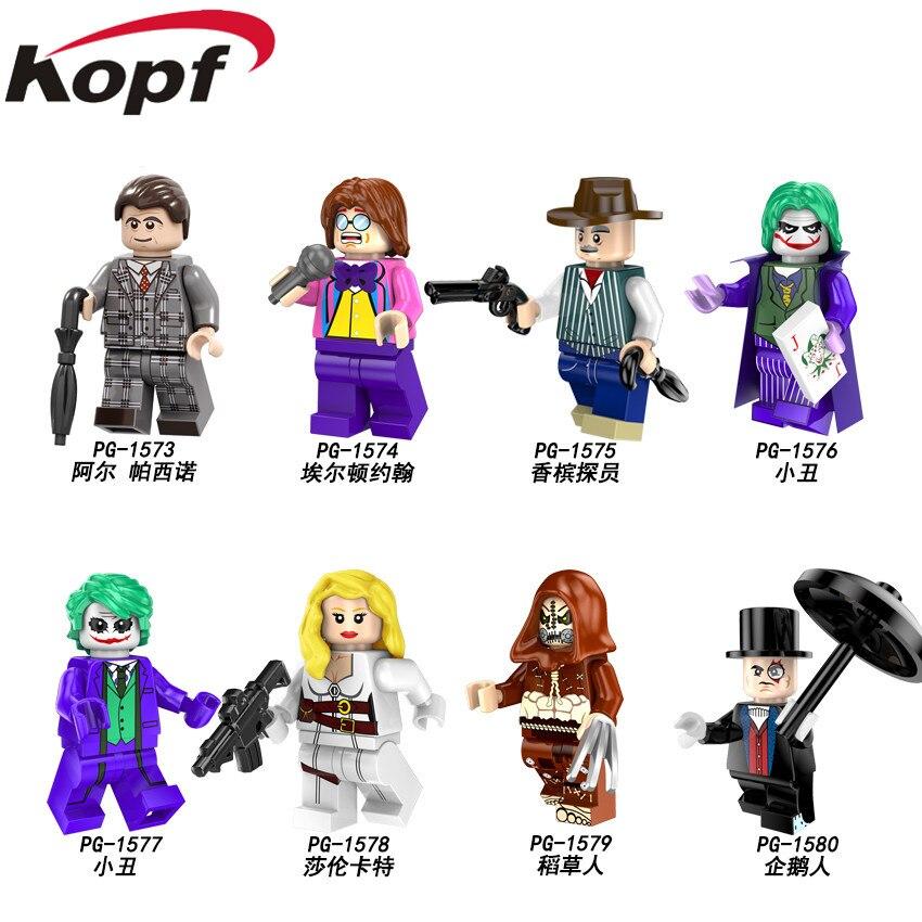Single Sale Building Blocks Super Heroes Al Pacino Sir Elton John Champagne Agent Sharon Carter Joker For Children Toys PG8144