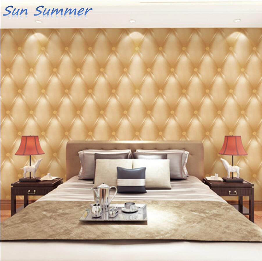 Soft bag wallpaper 3d three-dimensional beijingqiang wall paper fashion brief modern bedside soft bag