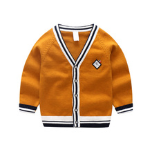 Children Clothing Knitted Cardigan Colored Cotton Sweater Breathable & Thin  Knitwear Purity Color For Boys