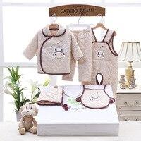 5pcs/Set 100% Cotton Thick Newborn Baby Clothes Sets Newborns Baby Clothes Set For Boys Girls Thick Baby Clothing