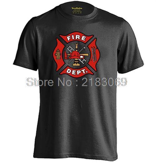Fireman Firefighter Mens & Womens Printing T Shirt Short Sleeve O-Neck T Shirt