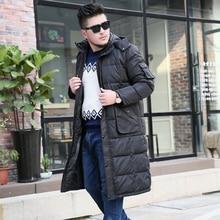 XL-10XL Winter Men X-Long Thicken Jacket 2018 New Plus Size Coat Men Hooded Detachable White Duck Down Jacket Mens Clothing недорого