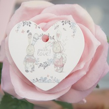 with love rabbit 95pcs pcs heart shape paper labels packaging decoration tags gifts tag label Scrapbooking Craft Paper  DIY