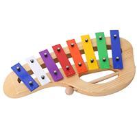 FBIL Percussion Set Musical Instruments Enlighten Toys Bells Maracas Glockenspiel Castanets 10PCS with Carrying Cas