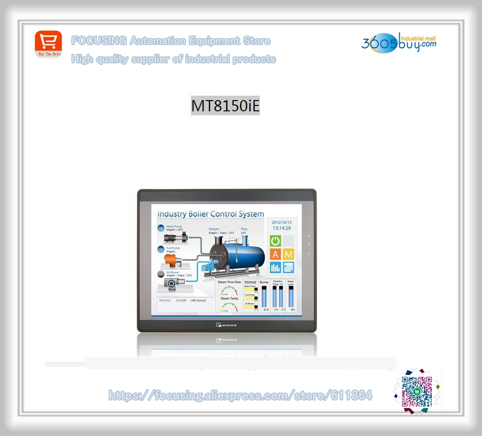 Orignal in box for 15 inch Touch Screen HMI MT8150ie with programming cable and software replace MT8150I tga63 mt 10 1 inch xinje tga63 mt hmi touch screen new in box fast shipping