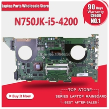 Free board+N750JK GT850M Graphics card -I5-4200 Motherboard For ASUS N750J N750JK N750JV Notebook notebook motherboard mainboard