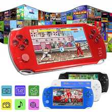 5.0 Inch 8G Handheld Game Players Rechargeable MP4/MP5 Player Video Game Console With Camera Ear Phone Support Mini SD Card