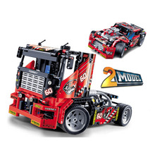 2019  608pcs Race Truck Car 2 In 1 Transformable Model Building Block Sets 3360 DIY Toys Compatible With Decool 42041 super heroes avengers batman race truck car model technic building block sets diy toys compatible with legoingly batman