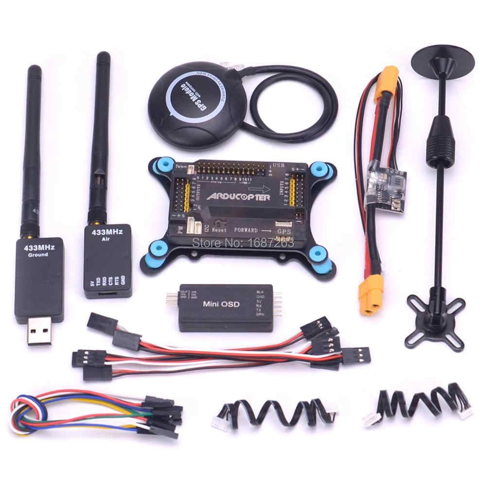 APM2.8 APM 2.8 Flight Controller Board Minim OSD M8N 8N GPS Power Module 433Mhz Telemetry Kit for RC Quadcopter Multicopter