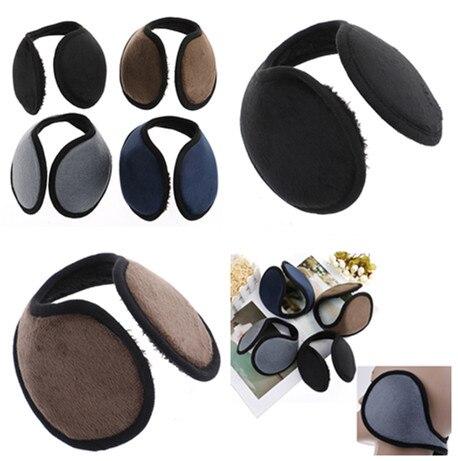 1Pc Black/Coffee/Gray/Navy Blue Earmuff Apparel Accessories Unisex Earmuff Winter Ear Muff Wrap Band Ear Warmer Earlap Gift