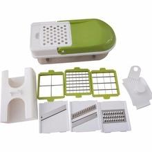 Multifunctional Kitchen Vegetable Slicer Dicer Vegetable Cutter Chopper Practical Salad Making Tool Cooking Helper Stainless