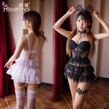 Sexy Woman Erotic Lingerie Cute Women Hot Hollow Princess Suit Lace Womens Clothing
