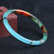 Натуральный Синьцзян Гоби цвет нефрит браслет золотой Шелковый нефрит браслет круглый бар винтажный браслет ob05