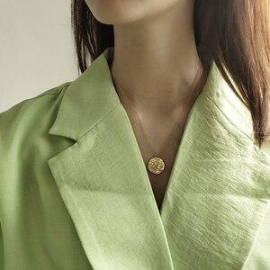 Image 5 - Collar LouLeur con colgante de Estrella de Plata de Ley 925 con forma de Luna, cadena Clavicular Irregular, collar de Color dorado, joyería nueva de moda para mujer