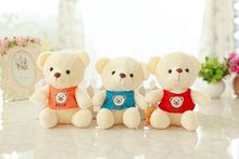 12 piece a lot small cute plush vest teddy bear toys stuffed bear dolls gift about 20cm