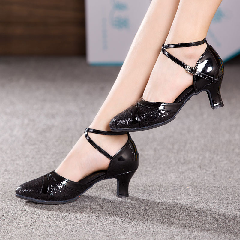 New Fashion Adults Ladies Shoes Ballroom Shoes Heeled Dancing Latin Salsa Shoes